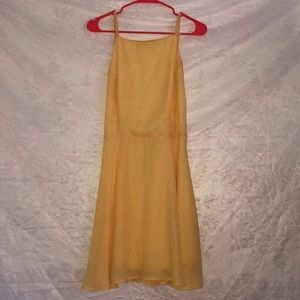 Backless yellow dress